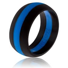 Rubber Wedding Rings by Fit Ring Mens Silicone Wedding Ring Thin Blue Line