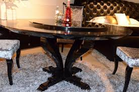 mercer41 burgess hill round crocodile lacquer dining table wayfair