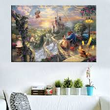 thomas kinkade prints on canvas reproduction painting wall art thomas kinkade prints on canvas reproduction painting wall art decorate picture tinker bell and peter pan fly to neverland in painting calligraphy from