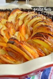 garlic herb potatoes and squash 25 thanksgiving recipes sugar