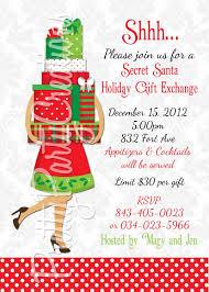 best gift exchange ideas secret santa invitation wording template best template collection