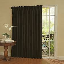 Patio Door Curtains Eclipse Thermal Blackout Patio Door Curtain Panel Walmart