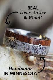 Deer Antler Wedding Rings by The Antlered Doe Handmade Deer Antler Rings I Love This My