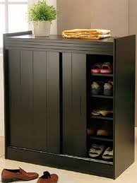 small black cabinet with doors home organization small black modern wood shoe organizer modern