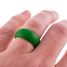 silicone wedding bands verdant green silicone wedding band for those with an active