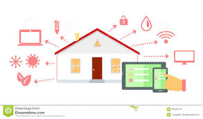 House Flat Design by Smart House Concept Icon Flat Design Stock Vector Image 65725474