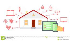 smart house concept icon flat design stock vector image 65725474