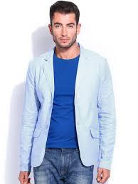 light blue jacket mens buy the indian garage co men light blue linen blazer blazers for