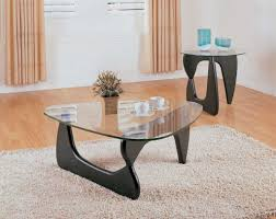 wooden coffee table has an open center storage for maintaining the