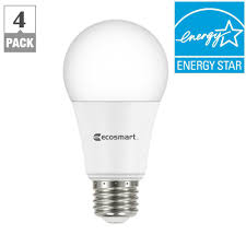 ecosmart light bulbs warranty ecosmart 75 watt equivalent a19 dimmable led light bulb soft white