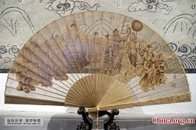 sandalwood fan sandalwood fan exhibited in suzhou china org cn