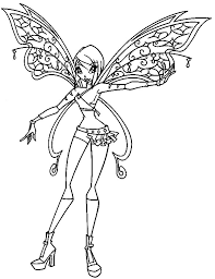 winx club coloring pages tecna coloringstar