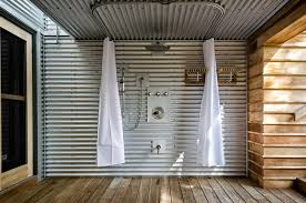 Outdoor Shower Curtains Outdoor Shower Rod Ideas For Outdoor Shower Curtain