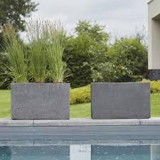 composits marc concrete rectangle trough planter pot in out from