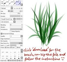 paint tool sai grass brush by childofmoonlight on deviantart