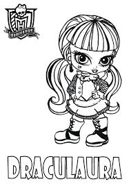 Monster High Coloring Pages Monster High Coloring Pages All Coloring Pages For High