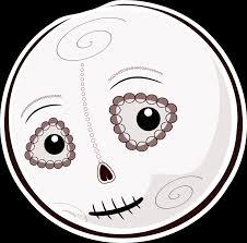 Mondspeer Deviantart - inktober 2 helloween smiley dias de los muertos by mondspeer on