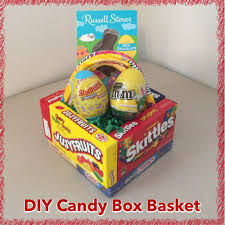 candy basket ideas diy edible candy box easter basket tutorial inspired