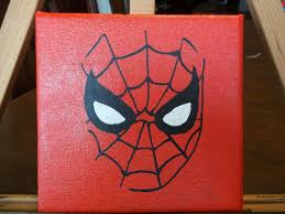 spiderman 6x6 acrylic painting etsy 10 50