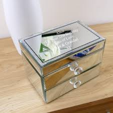 personalised jewelry box personalised mirrored glass jewellery box with diamante lid
