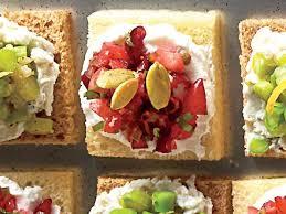 canap toast cranberry goat cheese canapés recipe myrecipes
