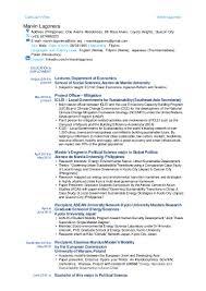 political science curriculum vitae youtuf com