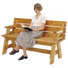 picnic table to bench plans bench decoration