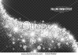 falling snow effect on transparent background stock vector