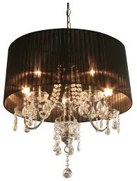lighting tiffany france 5 light drum chandelier and black drum