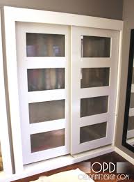 decor white wooden lowes closet sliding door for home decoration
