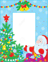 frame clipart santa claus pencil and in color frame clipart