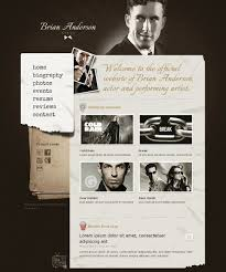 resume templates for actors actor website templates themes free premium free premium personal page website template
