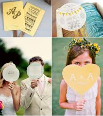 Wedding Ceremony Fans Wedding Ceremony Program Fans