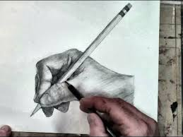 how to draw the hand step by step holding a pencil youtube