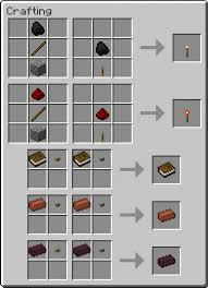 map crafting recipe torch levers mod for minecraft 1 6 4 1 6 2 and 1 5 2