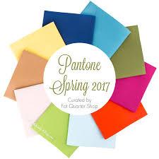 pantone spring 2017 fat quarter bundle curated by fat quarter shop