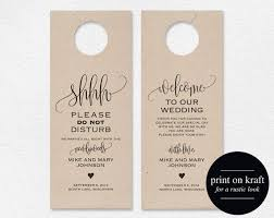 wedding door hanger template wedding door knob hangers ovec print wedding door knob hangers