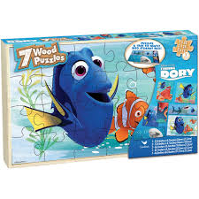 halloween jigsaw puzzle disney finding dory set of 7 wood jigsaw puzzles in wood storage