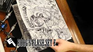 tattoo artist boog from dallas texas tattoo flash art set f