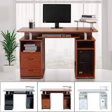 Schreibtisch Pc Homcom Computertisch Pc Schreibtisch Aosom De