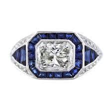 diamond cocktail rings platinum 2 carat sapphire and diamond cocktail ring