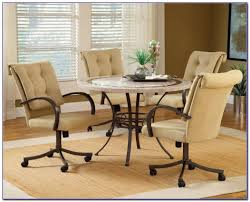 dining room sets with upholstered chairs with casters 1024x823