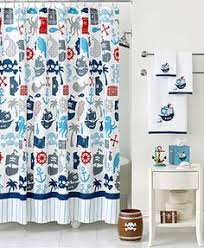 baby boy bathroom ideas black and white stripe shower curtain pirate bathroom and