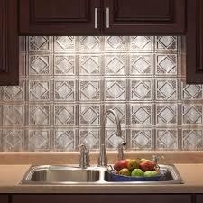 excellent silver color metal tile kitchen backsplash come with