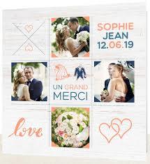 remerciement mariage photo des cartes de remerciement de mariage qui vous ressemblent unidyl