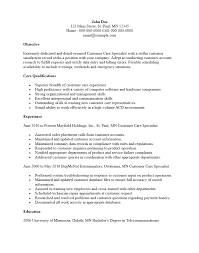 Resume For Customer Service Specialist Free Customer Service Specialist Resume Template Sample Ms Word