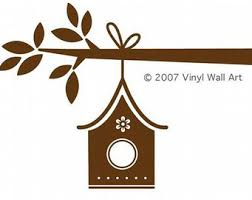 birdhouse wall decal etsy