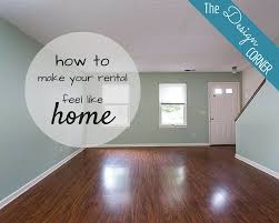 the design corner how to make your rental feel like home