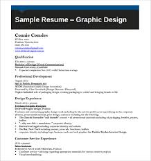 Artistic Resume Template Graphic Design Resume Template Vector Free Download Sample