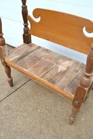 diy entryway bench diy entryway bench made from a repurposed headboard footboard